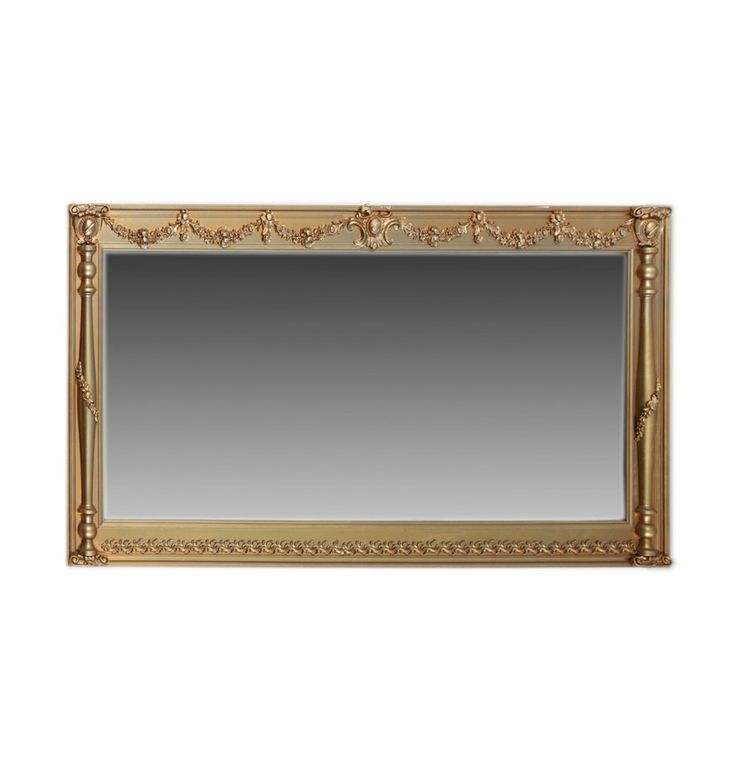 Wall Mirror with Empire Style Wood Frame