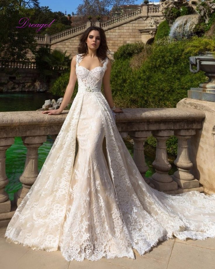 Dreagel New Arrival Elegant Sweetheart Lace Mermaid Wedding Dress 2017 Appliques Sashes Bohenmain Bridal Dress Vestido de Noiva-in Wedding Dresses from Weddings & Events on Aliexpress.com | Alibaba Group