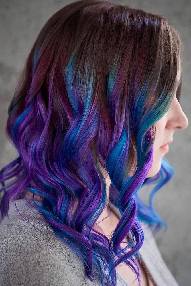 24 Blue And Purple Hair Looks That Will Amaze You Purple Hair Tips Purple Hair Colored Hair Tips