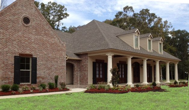 French country house exteriors exterior modified for Home plans louisiana