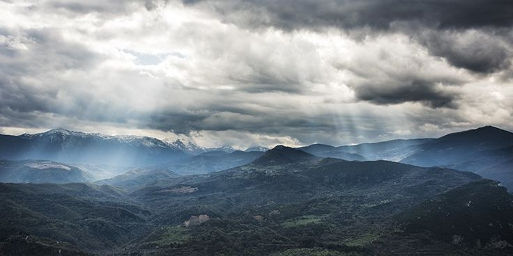 The  Oros Giona mountain range in Greece, near Thermopylae - Greece mainland Workshop - Ollie Taylor Photography