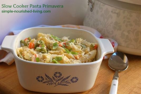Slow Cooker Pasta Primavera | Weight Watchers Friendly Recipes
