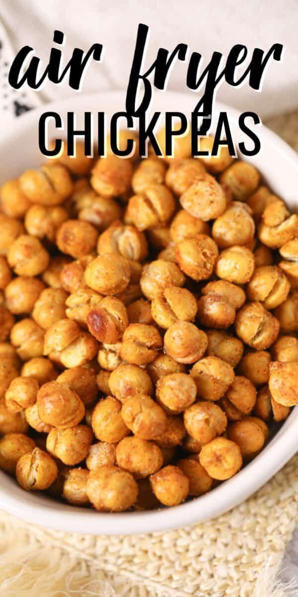 Cinnamon Roasted Chickpeas Tiffanie Recipe In 2021 Air Fryer Recipes Vegetarian Air Fryer Recipes Breakfast Chickpea Recipes Roasted
