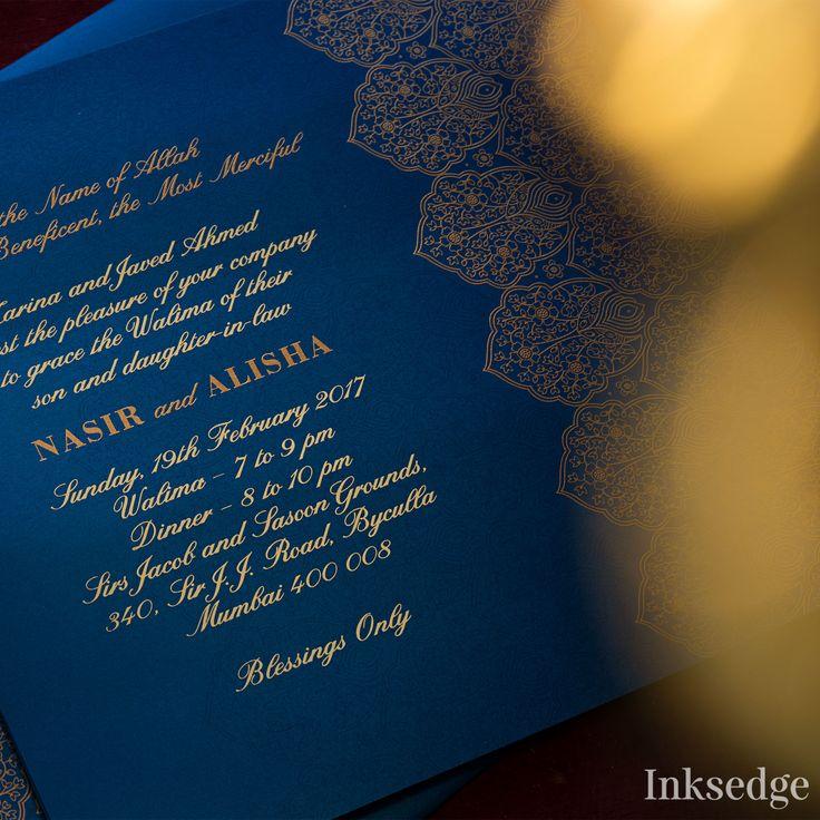 muslim wedding invitations mumbai%0A  inksedge  islamicwedding  islamicweddinginvitations   Indianweddinginvitations  weddinginvitations  golddetails