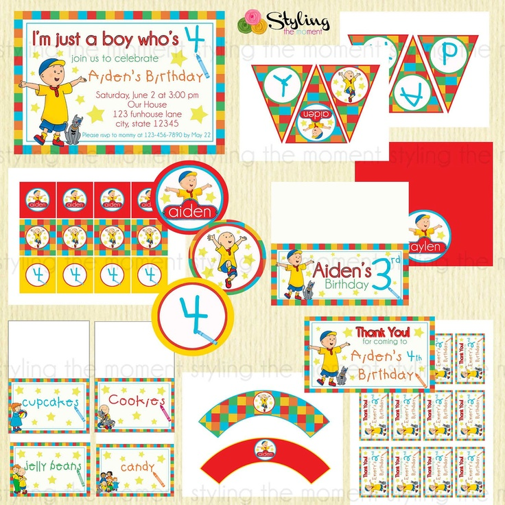 30 best Caillou Birthday Party Ideas Decorations and Supplies