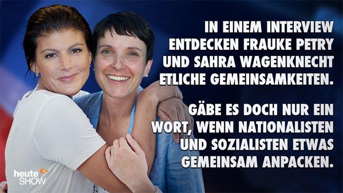 Sahra Petry und Frauke Wagenknecht (Quelle:ZDF/dpa/getty)
