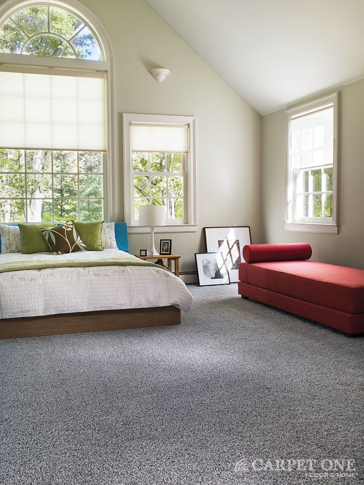 Gray Is A Great Neutral In A Modern Space Carpet From The Bigelow Stainmaster Collection