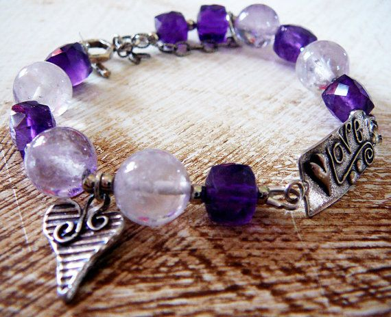 Love is in the Air  Artisan Bracelet / Amethyst by BatyaHavDesign