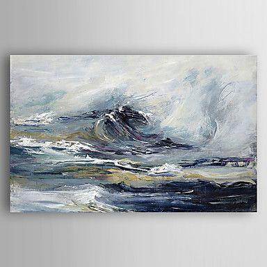 Pintados à mão Paisagens Abstratas Pinturas a óleo,Modern 1 Painel Tela Hang-painted pintura a óleo For Decoração para casa de 5239754 2016 por R$270,37