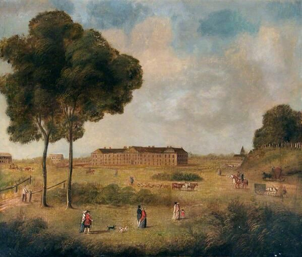 the London Hospital in Whitechapel c.1760. Painting courtesy of the Royal #London Hospital Museum Archive.