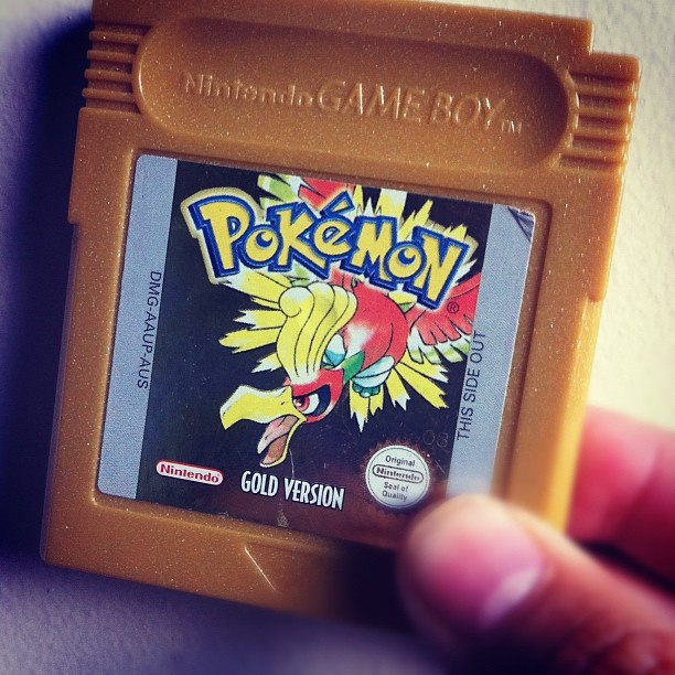 Yes, I still have a Nintendo Gameboy Pokemon Gold cartridge. I am HARDCORE. :D  #Pokemon #PokemonGold #Nintendo #Gameboy #GameboyColour #geekery #gamer