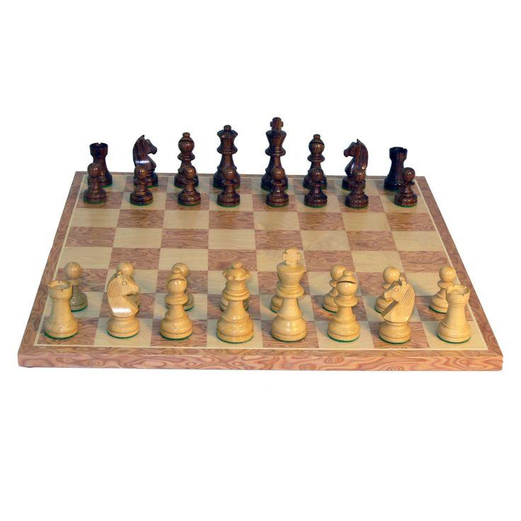 German Knight Chess Set - Sheesham - 30SG-WC