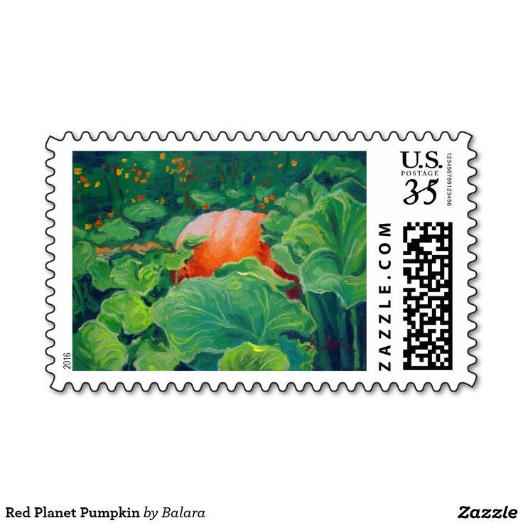 Red Planet Pumpkin Stamp