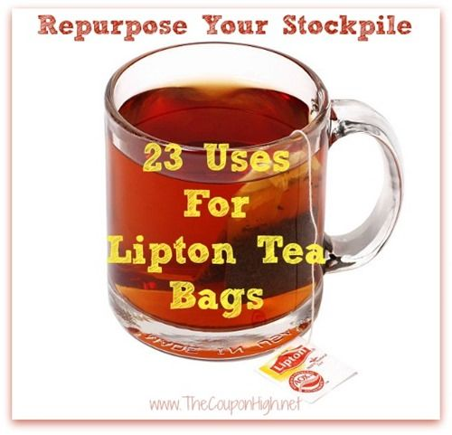 23 Ways to Repurpose Your Lipton Tea Bags.  Ideas covered include health, beauty and homcare.  Definitely going to have to try the Plant food idea because I routinely kill plants.