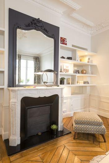 Chambre de B. Trumeau + peindre l'intérieur de la cheminée en noir