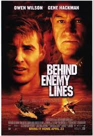 Behind Enemy Lines Movie Poster 27x40 Used Owen Wilson, Gene Hackman