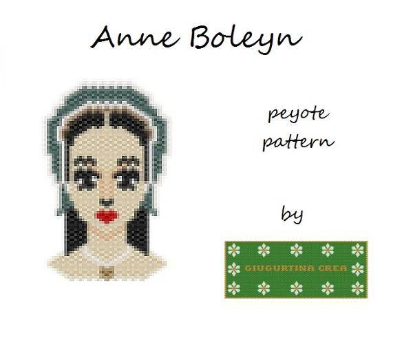 Anne Boleyn #anneboleyn #annabolena #queen #regina #peyotestitch #miyuki #delica