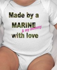 Hey, I found this really awesome Etsy listing at https://www.etsy.com/listing/164293246/made-by-a-marine-my-mommy-with-love-baby