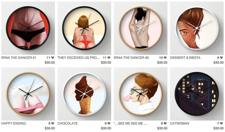 They have added Wall Clocks at the Society6 store!!  Go and grab you one original Grahvosky Wall Clock!