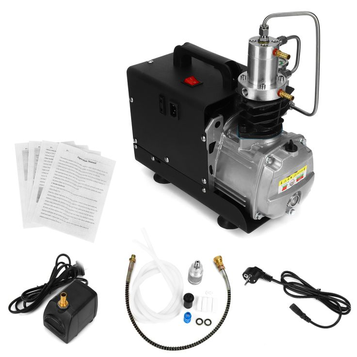 110V/220V 30Mpa High Pressure Electric Compressor Pump PCP Electric Air Pump Black