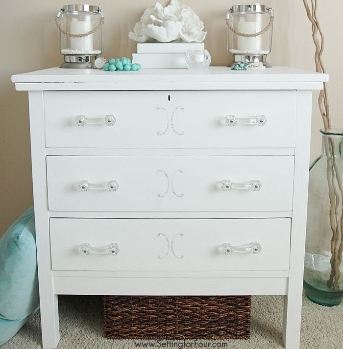 DIY dresser makeover with Chalky Finish Paint