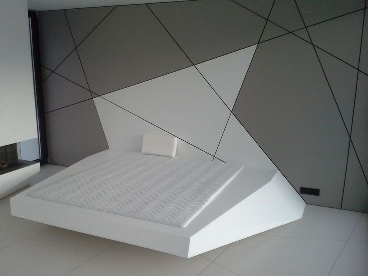 Cama dormitorio futurista