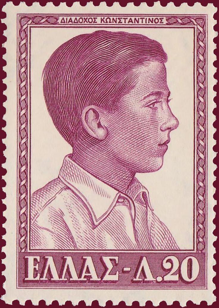 1956 Έκδοση Βασιλέων Α - Διάδοχος Κωνσταντίνος Περίοδος εξουσίας 6 Μαρτίου 1964 έως 1 Ιουνίου 1973 Τεμάχια:10.000.000