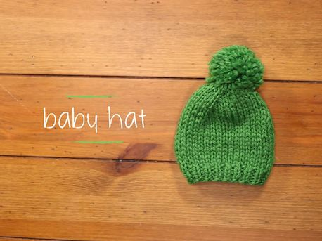 Knitted baby hat for beginners with youtube video instructions