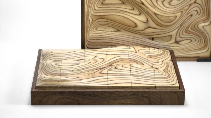 Strata | A sculptural wooden surface puzzle - https://www.designideas.pics/strata-a-sculptural-wooden-surface-puzzle/