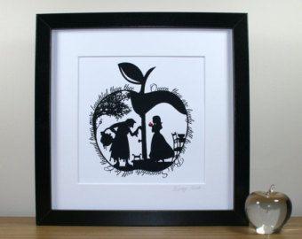 Cinderella's Dream Signed Paper Cut Print by StudioCharley on Etsy