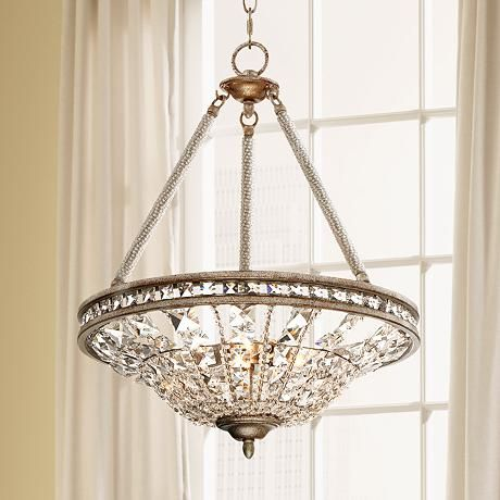 81 best lamps and lighting images on pinterest chandeliers carlita 16 wide silver leaf crystal pendant mozeypictures Gallery