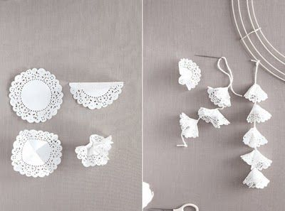 lace doily garland