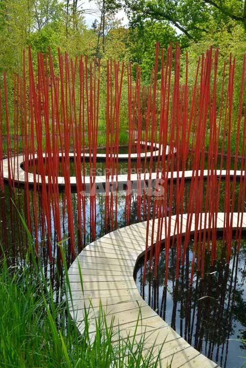 1000 id es sur le th me bassins de jardin sur pinterest tangs tangs d 39 arri re cour et mare - Jardin contemporain athis de l orne nantes ...