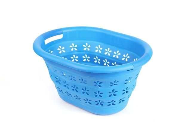 Flat Basket Space Saving Collapsible Laundry Basket