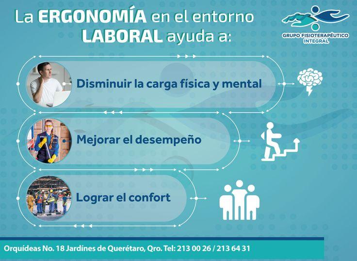 """La #ergonomía en el entorno laboral, impacta positivamente a #empresas e #industrias. #GrupoFI """"Salud integral sólo en nuestras manos""""."""