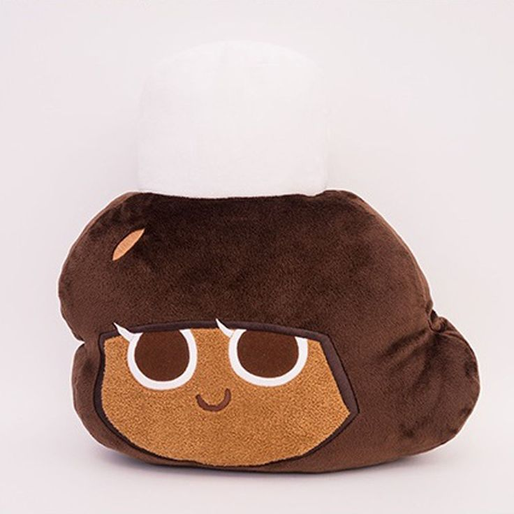 Moblie Game Cookie Run Character Face Pillow Cushion 34cm 13in Cocoa Cookie #Cookierun