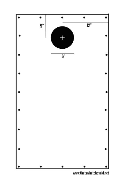 corn hole diagram
