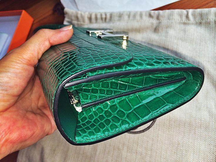 hermes constance alligator long wallet | ... -bnib-hermes ...