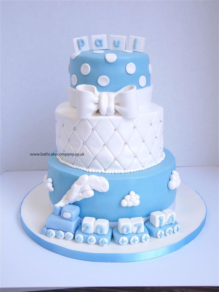 26 best images about christening cakes on pinterest for Baby boy cake decoration