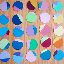 Make paint chips into a bright and colorful mobile. Easy tutorial!