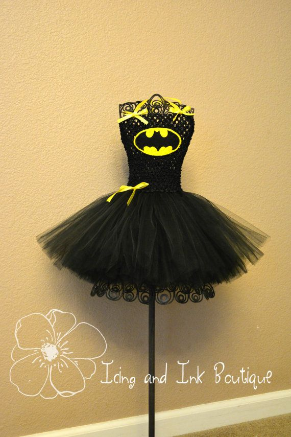 Batgirl Tutu Costume Batman Tutu Costume with por ClickandBloom