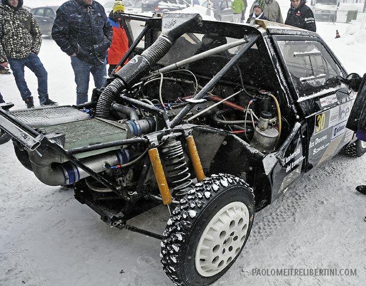 Corso di fotografia sportiva: Action Photo rally su ghiaccio velocità a Livigno. Ghiacciodrono. LANCIA DELTA S4 GRIFONE