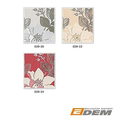 Bloemen behang land huis behang EDEM 029-24 ontwerp floral bloemen behang vinyl behang framboos rood bruin rood wit paars   Fruugo