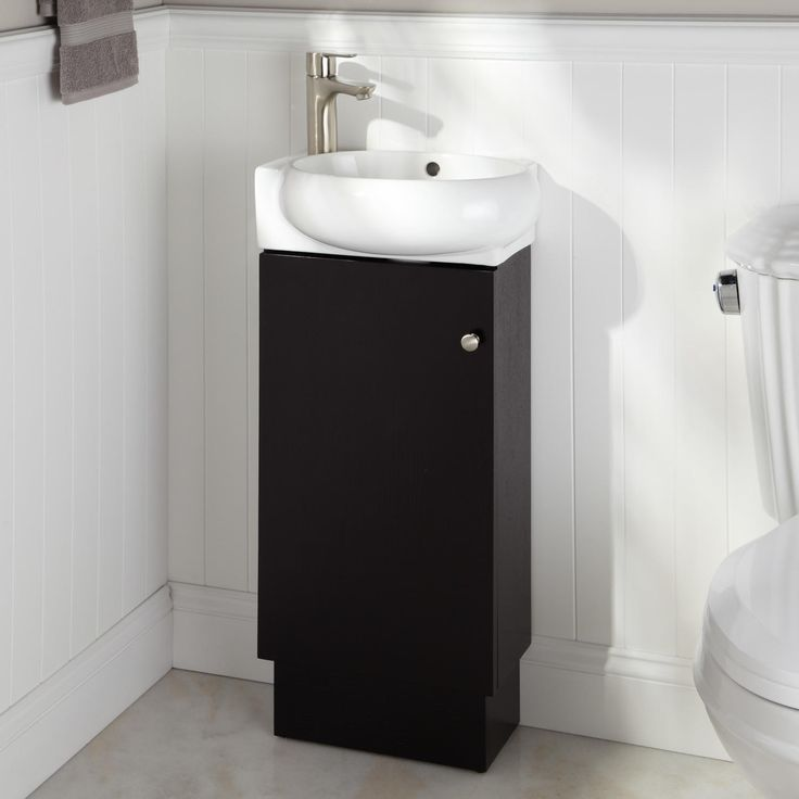 Contemporary Art Websites The perfect solution for a small bathroom the Findlay Vanity is economically designed with a ceramic sink and convenient shelving