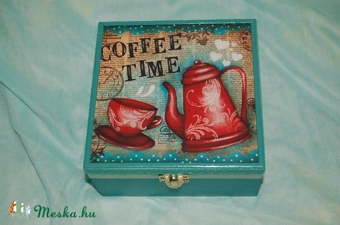 Kávés doboz - 4 rekeszes (Pearlbox) - Meska.hu