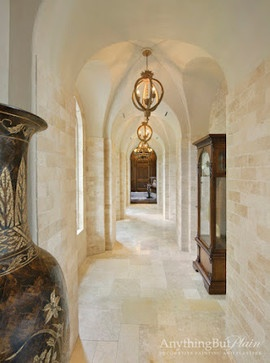 Arched Groin Hall - mediterranean - hall - houston - Anything But Plain, Inc.