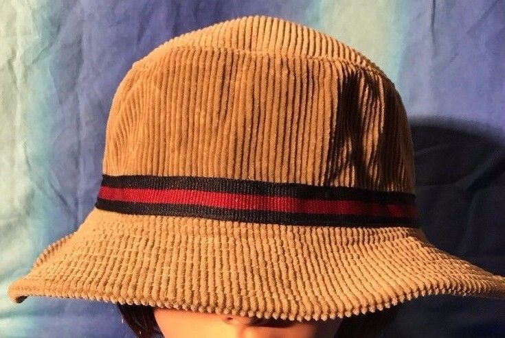Vintage Polo Ralph Lauren Bucket Hat Corduroy Cap size Large tan POLO tag #PoloRalphLauren #BucketHat