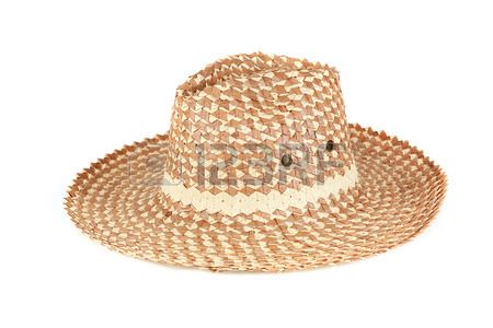 straw hat isolated on a white background Stock Photo