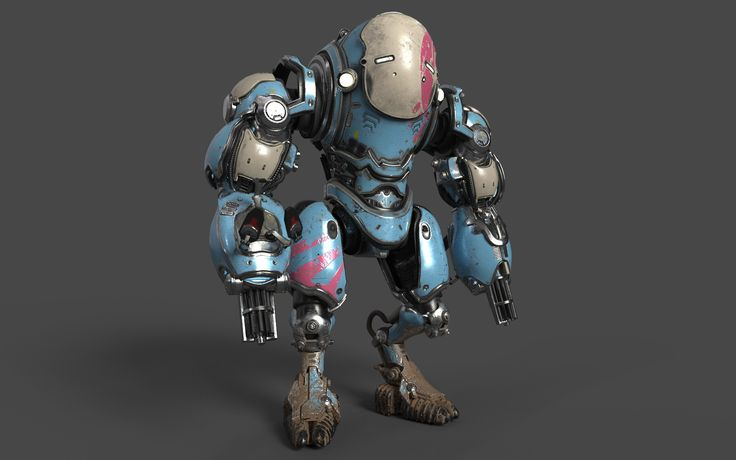 Mech modelled in 3ds max and rendered in Substance Painter using Iray  Baked in Substance Designer and textured in Substance Painter  Original Concept by Joe Peterson http://conceptartworld.com/?p=15332