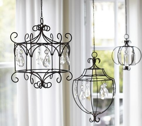 Love these chandeliers from Pottery Barn